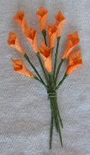 ORANGE CALLA LILY aka ARUM LILY Mulberry Paper Flowers